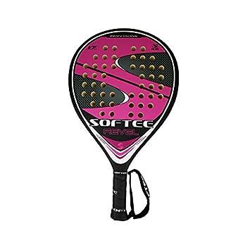 Softee 0013867 Pala, Unisex, Negro/Rosa/Gris, 38 mm: Amazon.es: Deportes y aire libre
