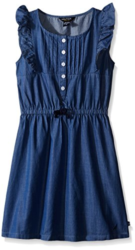 Nautica Baby Flutter Sleeve Dress, Chambray, 24 Months (Chambray Dress For Girls)
