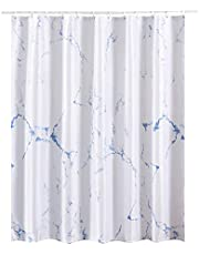 Marble Bathroom Shower Curtain,Grey and White Fabric Shower Curtain with Hooks,Unique 3D Printing,Decorative Bathroom Accessories,Water Proof,Reinforced Metal Grommets