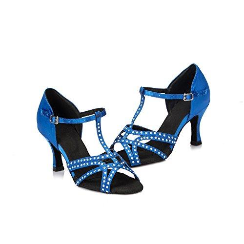 Minitoo mariage piste Toe pour nbsp;T bleu Strap latine Th064 Femme de Dance satin Taogo Bleu Peep Sandales en danse FW8rF
