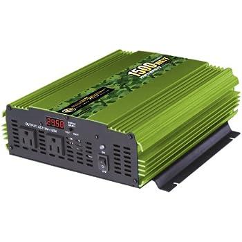 Power Bright ML1500-24 1500 Watt 24 Volt DC To 110 Volt AC Power Inverter