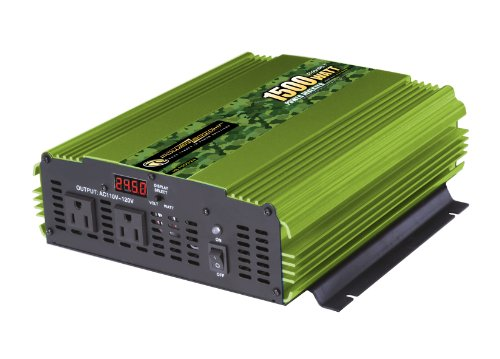 Power Bright ML1500-24 1500 Watt 24 Volt DC To 110 Volt AC Power Inverter by PowerBright
