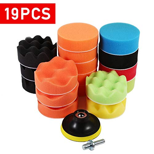 "19Pcs 3"" Buff Polishing Pads Replacement + M10 Drill for sale  Delivered anywhere in Canada"