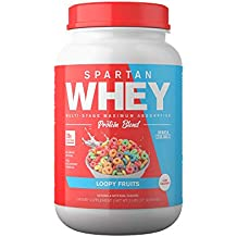 Spartan Whey: Best Rated Protein Powder Blend, Best Tasting Whey Protein Isolate, Concentrate and Micellar Casein Blend with AstraGin for Amino Acid Bioavailability, Loopy Fruits, 2 pounds