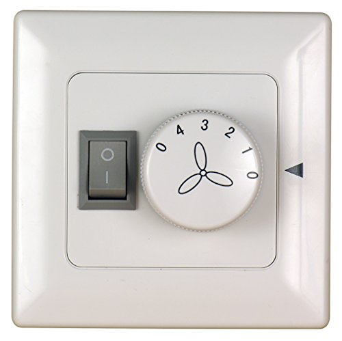 Fanimation C2-220 Wall Control Fan and Light 3-Speed/Non-Reversible,220-volt, White