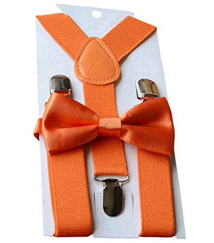 Buy Cosplay Outfits (UDRES Unisex Kid Boys Girls Adjustable Bow tie & Suspender Sets (One Size,)