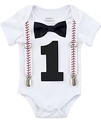Amazon Noahs Boytique Baby Boy First Birthday Outfit Baseball Theme Party Shirt Clothing