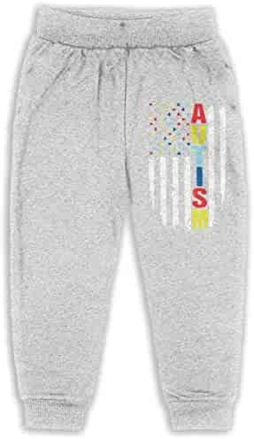 Chicago Flag Autism 3 Unisex Baby Sweatpants Classic Boys /& Girls Elastic Trousers