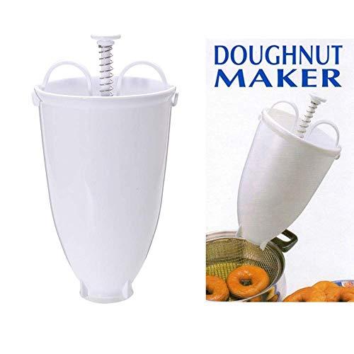 Liberty, Biscuit Donut Maker DIY Baking Tools Milking Dessert Baking Mold, Food Grade Stainless Steel Compression Spring White
