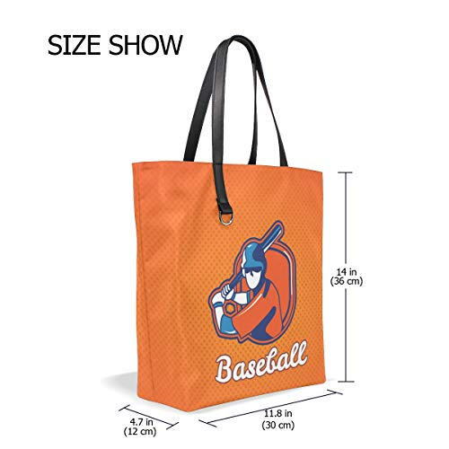 Taille Tote 001 Femme Bennigiry Unique Cabas Pour Baseball nTAYdwqC