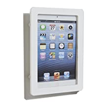 iPad mini 1/2/3 White Acrylic Security Anti-Theft Enclosure with Wall Mount Kit