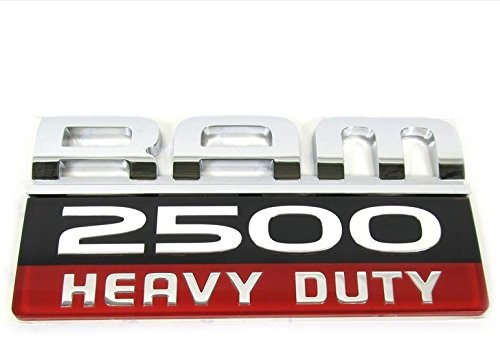 RAM 2500 HEAVY DUTY EMBLEM BADGE DOOR Stickers NAMEPLATE Acrylic ABS material for DODGE ram2500
