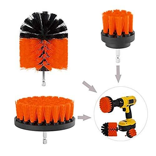 Homewind Power Scrubber 3 - Spazzola per la pulizia di trapano elettrico, in plastica