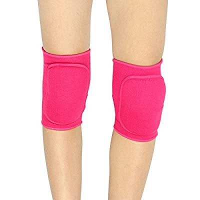 Clobeau Kids Protective Knee Pads, Stretchy Cotton Thicked Breathable Antislip, Collision Avoidance Keedpads Knee Sleeve Brace Support Protector Pad Wrap Tape for Kids Sports Dancing: Sports & Outdoors