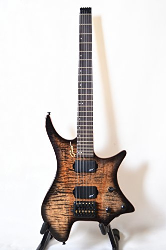 New Grote Headless Electric Guitar Flame maple top (brown)