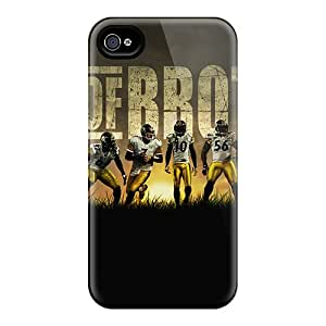 Shock Absorbent Hard Cell-phone Cases For Iphone 6plus With Customized Colorful Pittsburgh Steelers Skin ErleneRobinson