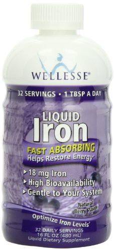 Nature's Way Liquid Mineral Supplement, Iron, Natural Berry,  16 Ounce