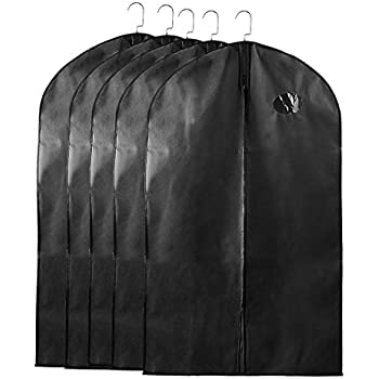 12e32b5546bd uxcell Garment Bags Suit Bags for Storage, 40''x24'' Dustproof Suit Travel  Bags Cover, Black Suit Cover Bags for Coats Dress, Suit Garment Bags for ...