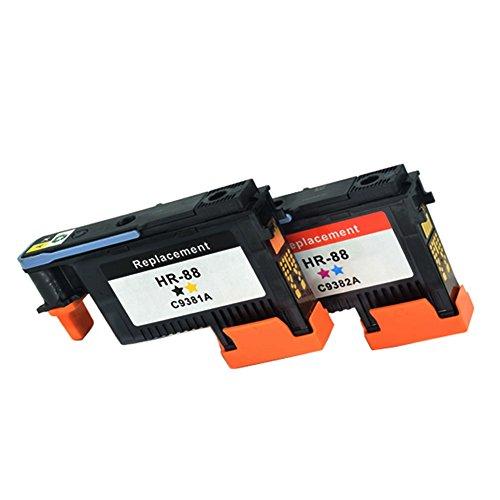C9381a Printhead - C-dling Remanufactured HP88 Printhead 2 Pack C9381A C9382A Compatible for HP Officejet with Pro K5400, L7550, L7580, L7590, L7650, L7680, L7750, L7780, L7790 Printers