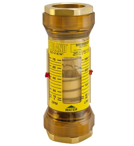 - Hedland H624-010-R EZ-View Flowmeter, Polyphenylsulfone, For Use With Water, 1 - 10 gpm Flow Range, 1/2