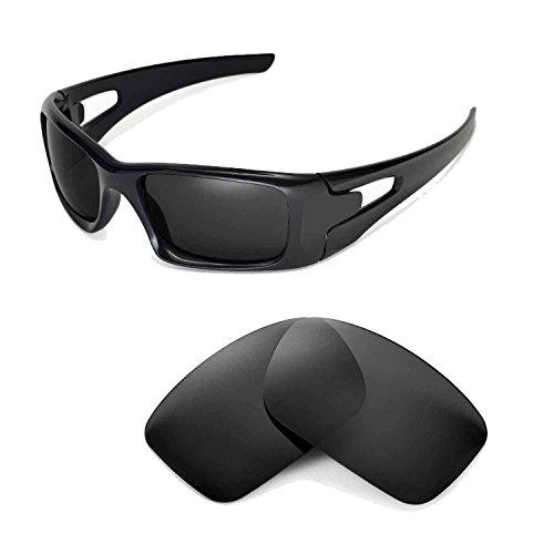 Walleva Replacement Lenses for Oakley Crankcase Sunglasses - Multiple Options Available (Black - - Crankcase Oakley Lenses