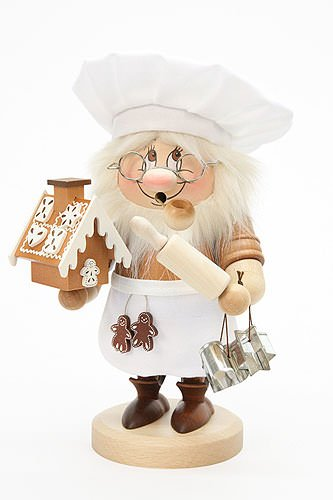 German Incense Smoker Gnome Sweety - 28,5cm / 11 inch - Christian Ulbricht by Authentic German Erzgebirge Handcraft