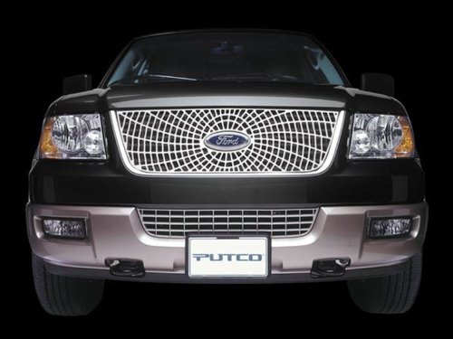 - Putco 303104 Liquid Spider Honeycomb Web Grille for Select Ford Models
