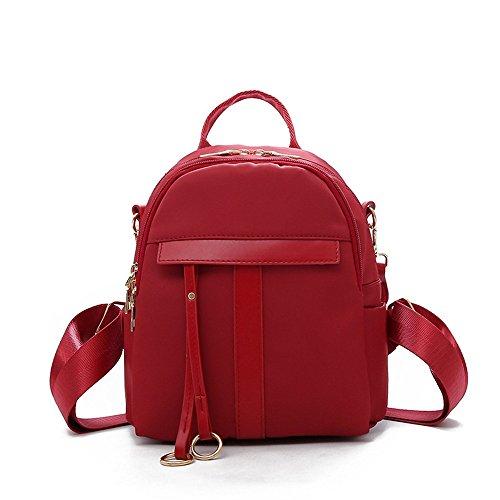 zaino in poliuretano quadrata borsa Zaino rosso minimalista borsa borsa Red elegante qtW77I5