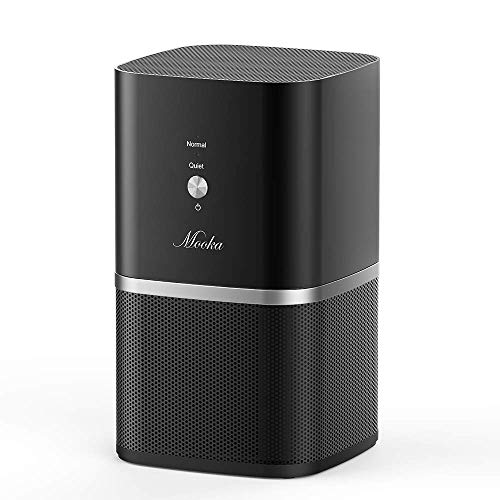 Mooka Air Purifiers for Home & Office with True HEPA Filter, PM1220 [Upgraded] Desktop Air Cleaner, Compact Design, Super-Quiet [<35dB], Removes 99.97% of Allergens, Dust & Pollen, 3-Year Warranty