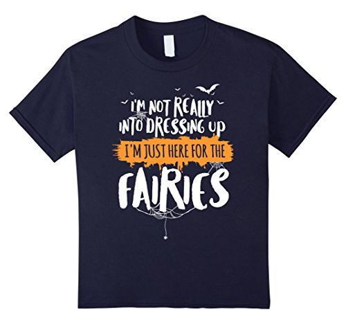 Kids Funny Halloween T-Shirt Costume for Fairies Lovers 12 Navy (Last Minute Fairy Costume)