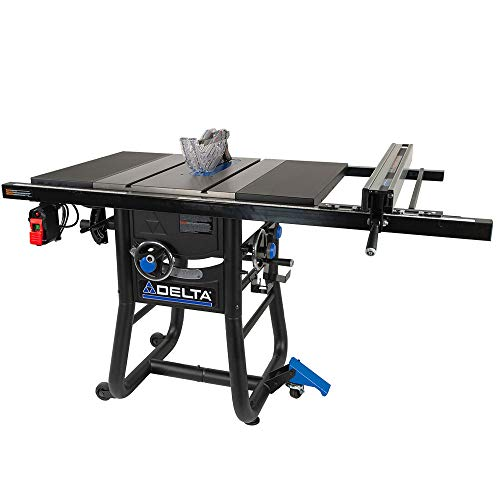 Delta 36-725T2 Contractor Table Saw with 30″ Rip Capacity and Steel Extension Wing