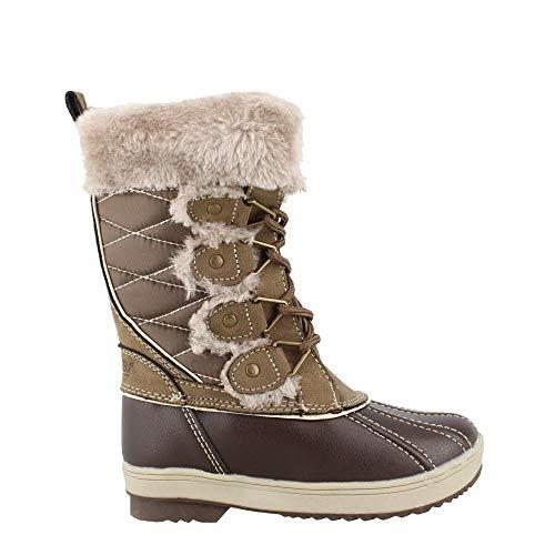 Khombu Girl's, Reyes Winter Boots Coffee Bean 2 M