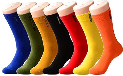 ack Fun Colored Cotton Dress Socks-Fashion Novelty Patterned Causal Socks Shoe Size 10-13 ()