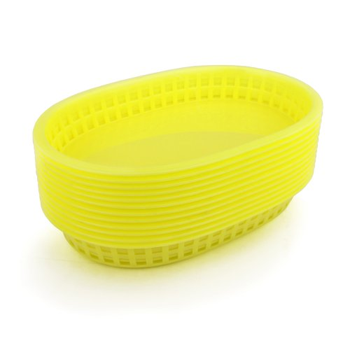 New Star Foodservice 44096 Fast Food Baskets, 10.5 x 7 Inch, Set of 36, Yellow