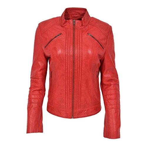 Blouson Rouge Red Fashion A1 Manches Femme Longues Goods qaxfvUE