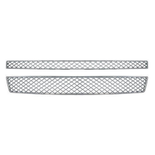 Bully GI-33X Triple Chrome Plated ABS Snap-in Mesh Style Imposter Grille Overlay, 2 Piece by Bully (Bully Imposter Grille)