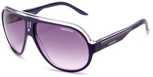 Carrera Speedway Aviator Sunglasses ,Violet Crystal White Frame/Violet Blue Lens,one - Carrera Store Sunglasses