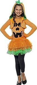 Smiffy'S 43021S Disfraz De Calabaza De Vestido Con Tutú, Naranja, S - Edad 4-6 Años