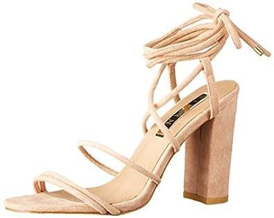 BILLINI Women's Orelia Strappy Block Heel, Hazelnut Suede, 7 AU