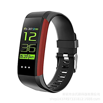 QUARKJK Smart Bracelet Fitness Tracker Sleep Monitor Smart Band Heart Rate Blood Pressure Monitor Watches Smart Wristband Red Estimated Price -