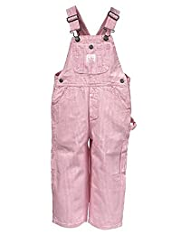 Key Industries Girls Bib Overalls - Pink Stripe Age 9m-7yr Pastel Infant Overall