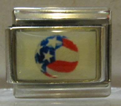 9mm Italian Charm... Ball With American Flag