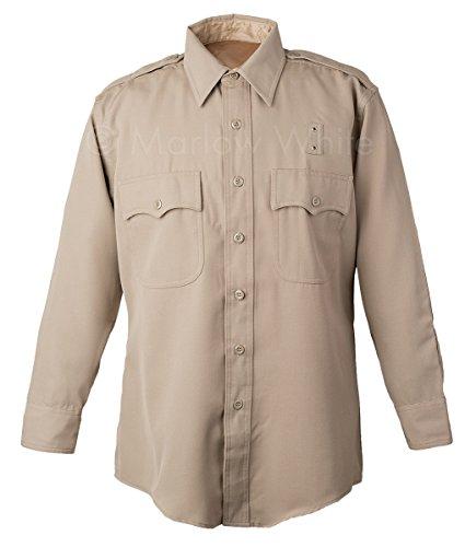 - Marlow White Uniforms California Highway Patrol Long sleeve shirt, Elbeco Silvertan (18.5 x 33)