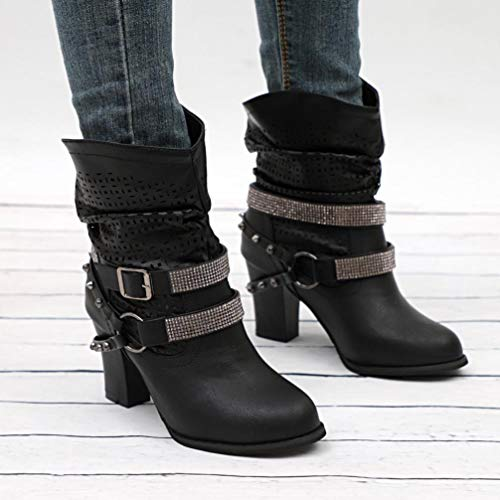 LILICAT Ladies Hollow Ankle Winter Women's Ankle Boots Half Shoes Martin Boots Women Slouch Out Black Heel Boots Autumn q1gqrwPx