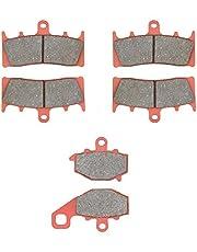 MEXITAL Klocki hamulcowe przód + tył do ZX 6R (G/J) ZX 600 (98-02) / ZZR 600 (ZX 600 J4/J6F-J8F) (05-08) / ZX6R A1 (ZX 636) 636cc (02) / ZX-9R (ZX 9000 B/C/E) (96-01)