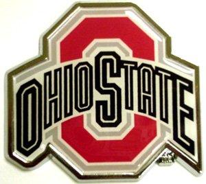 ohio state chrome car emblem - 2