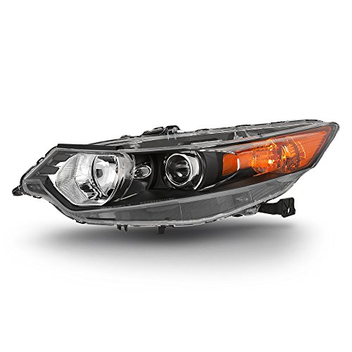 ACANII - For [HID Type] 2009-2014 Acura TSX Headlight Headlamp Front Head Light Lamp - Replacement Driver Side Only Acura Tsx Headlight Assembly