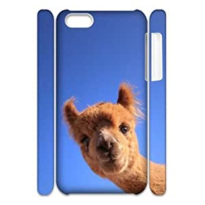 Adorable alpaca Personalized 3D Case for Iphone 5C, 3D Customized Adorable alpaca Case