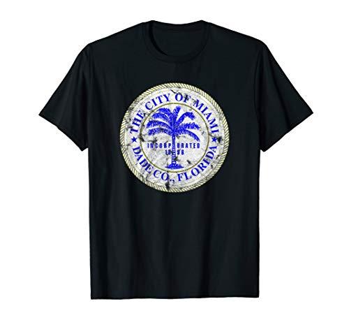 - Miami Florida City Seal State Home Pride Dade County T-Shirt