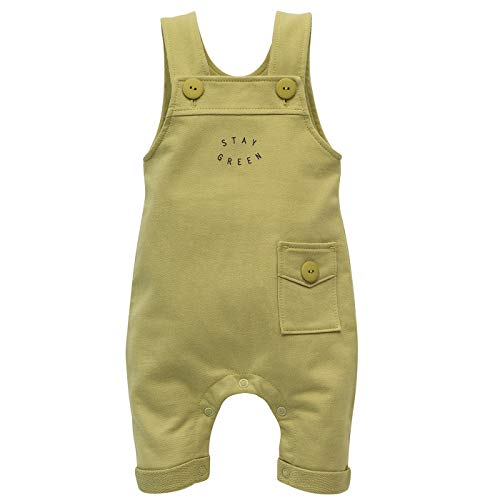 Pinokio – Stay Green – Tuinbroek Broek Dungarees Baby Jongens Meisjes Unisex 100% Katoen Overall Groen 56 62 68 74 80 cm